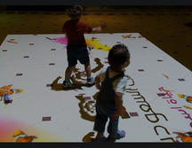 Interactive Floor with Sealife and Water Effect