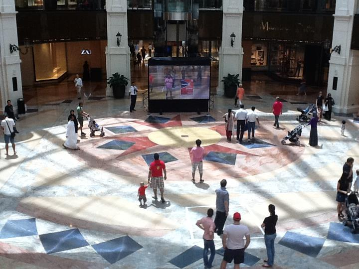 Large Scale Augmented Reality Experience in Dubai Mall of the Emirates