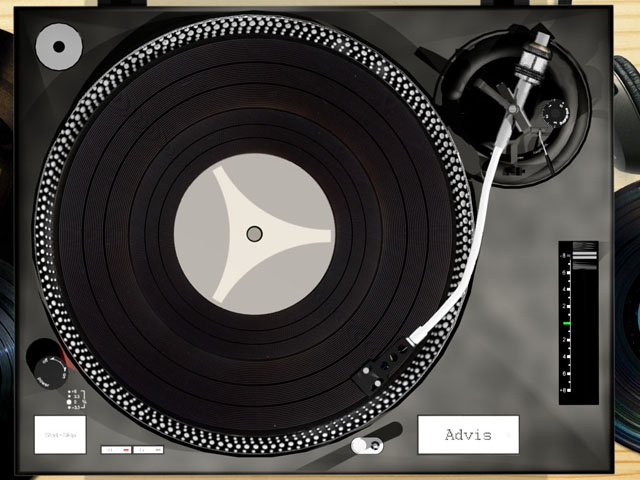 Interactive Turntable Effect